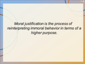 Moral justification